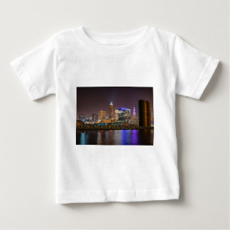 Cleveland Skyline at Night Baby T-Shirt