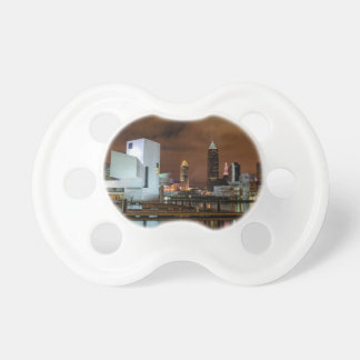 Cleveland Skyline at Night Pacifiers