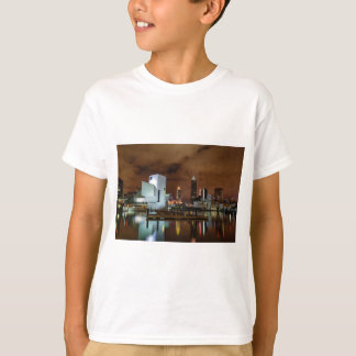 Cleveland Skyline at Night T-Shirt