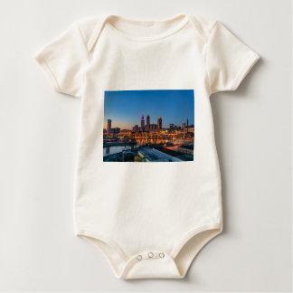 Cleveland Skyline at Sunset Baby Bodysuit