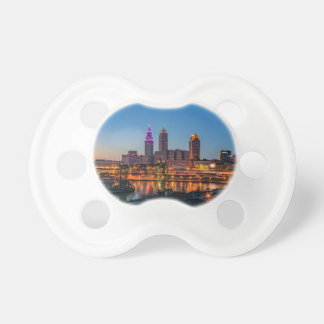 Cleveland Skyline at Sunset Baby Pacifier