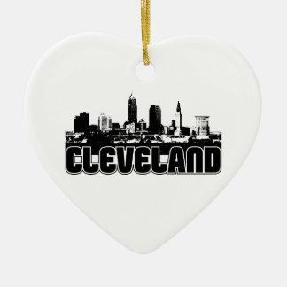 Cleveland Skyline Ceramic Ornament