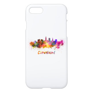 Cleveland skyline in watercolor iPhone 8/7 case