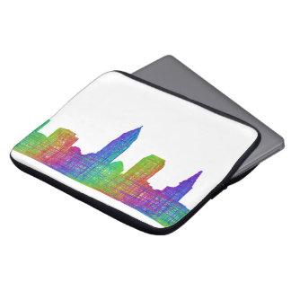 Cleveland skyline laptop sleeves