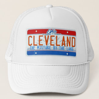 CLEVELAND THE MISTAKE BY THE LAKE TRUCKER HAT