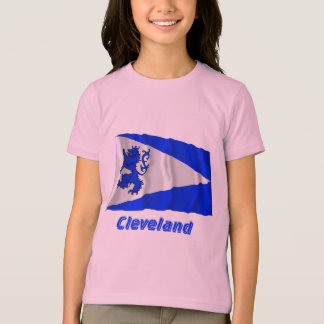 Cleveland Waving Flag with Name T-Shirt
