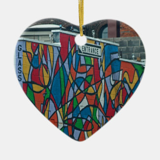 Cleveland's West Side II Ceramic Heart Ornament
