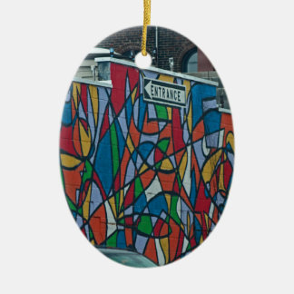 Cleveland's West Side II Ceramic Oval Ornament
