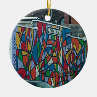 Cleveland's West Side II Round Ceramic Ornament