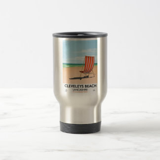 Cleveleys Beach Lancashire seaside poster Travel Mug
