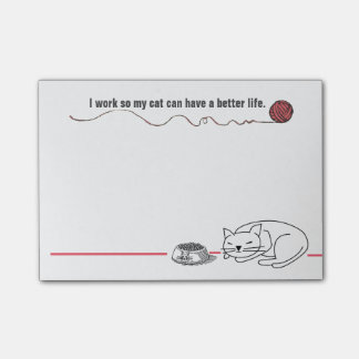 Clever Cat Humor Post-it Notes