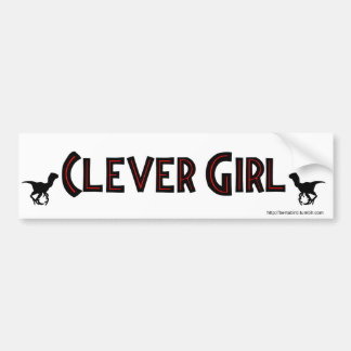 CLEVER GIRL BUMPER STICKER