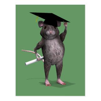 Clever Graduation Rat Postcard