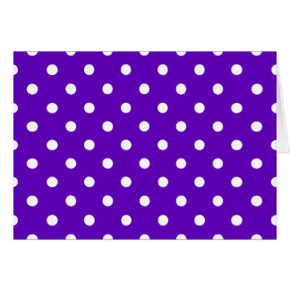 Clever Purple Polka Dot Cards, Notecards, Stickers Card