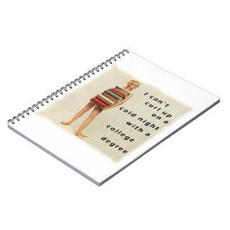 Clever sexist design spiral notebook