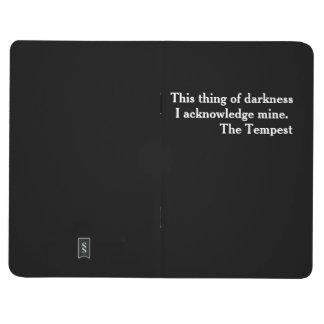 "Clever Shakespeare literary ""little black book"" Journal"