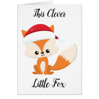 Clever Whimsical Fox Greeting Card