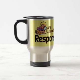 CLEVERLY DISGUISED AS RESPONSIBLE ADULT 15 OZ STAINLESS STEEL TRAVEL MUG
