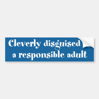 Cleverly disguised bumper sticker