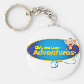 Click and Learn Adventures Basic Round Button Keychain