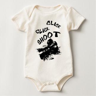 Click click shoot baby bodysuit