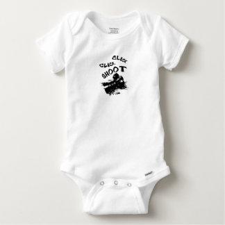 Click click shoot baby onesie