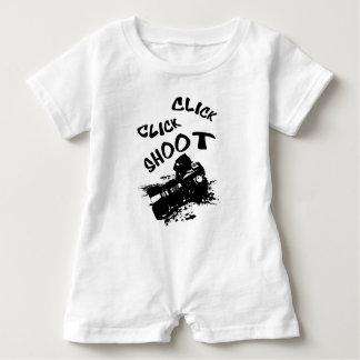 Click click shoot baby romper