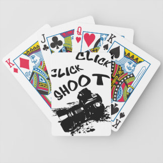 Click click shoot bicycle playing cards