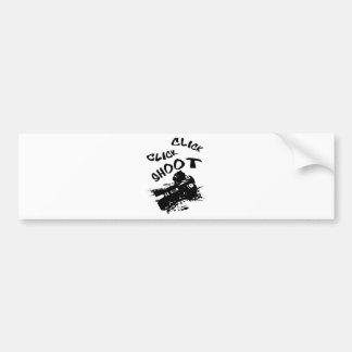 Click click shoot bumper sticker