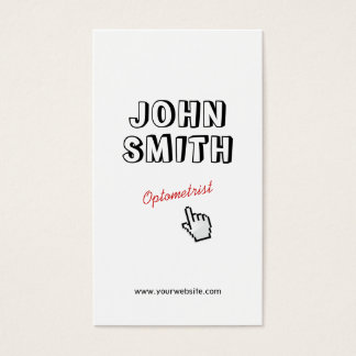 Click! Outline Text Optometrist Business Card