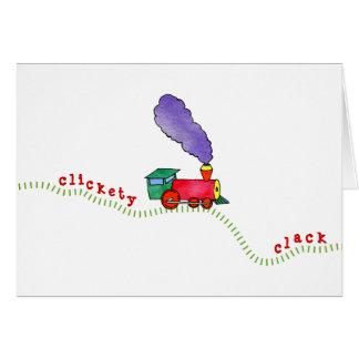 Clickety Clack Train Card