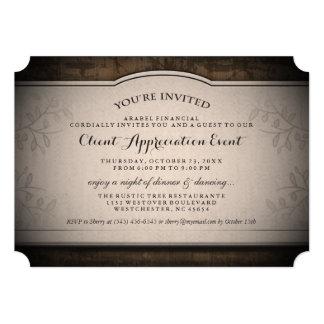 Client Appreciation Event Custom Rustic Invitation