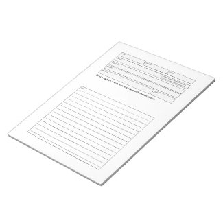 Client consultation form notepad