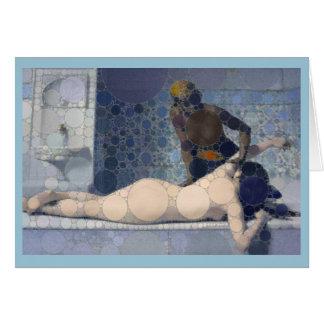 Client historique de thérapie de massage carte de vœux