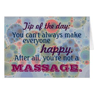 Client mignon de thérapeute de thérapie de massage carte de vœux