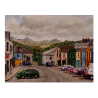 Clifden Ireland Cityscape Impressionistic Painting Postcard