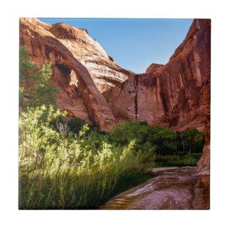 Cliff Arch Sunrise - Coyote Gulch - Utah Ceramic Tile