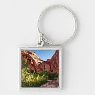 Cliff Arch Sunrise - Coyote Gulch - Utah Silver-Colored Square Keychain