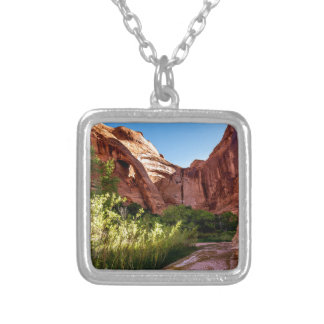 Cliff Arch Sunrise - Coyote Gulch - Utah Silver Plated Necklace