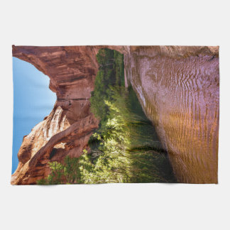 Cliff Arch Sunrise - Coyote Gulch - Utah Towels