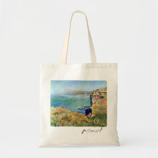 Cliff at Grainval by Claude Monet Budget Tote Bag