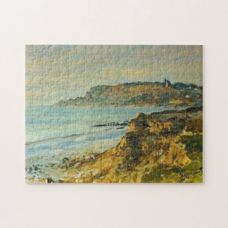 Cliff at Sainte-Adresse Monet Fine Art Jigsaw Puzzle