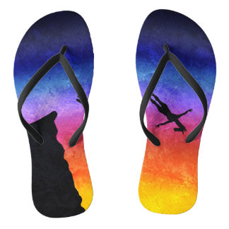Cliff Dive Unicorn Flip Flops