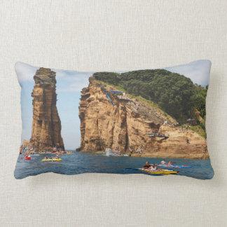 Cliff Diving event Lumbar Pillow