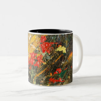 Cliff Dwellers Abstract 2 Two-Tone Coffee Mug