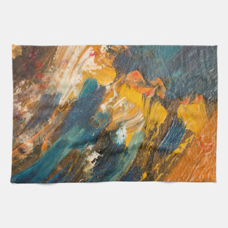 Cliff Dwellers Abstract Hand Towel