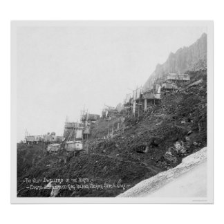 Cliff Dwellers In Alaska 1906 Poster