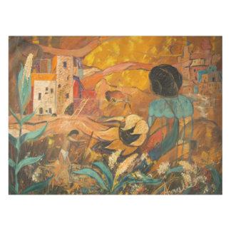 Cliff Dwellers Painting Tablecloth