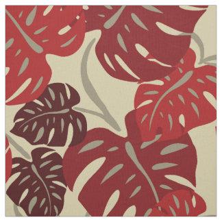 Cliff Hanger Hawaiian Monstera Leaf Fabric
