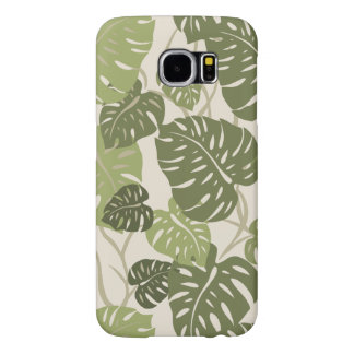 Cliff Hanger Hawaiian Tropical Monstera Leaf Samsung Galaxy S6 Cases